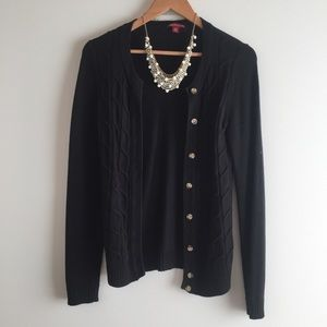 Black Button-Up Sweater